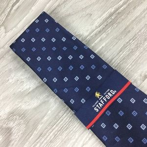 Stafford Blue Square Pattern Tie